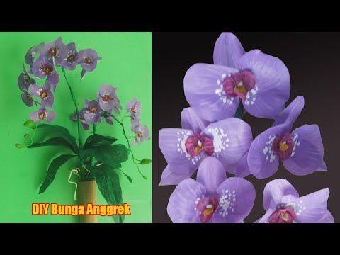 Diy Cara Membuat Bunga Anggrek How To Make An Orchid Flower Youtube Orchideeen Bloemen Rietjes