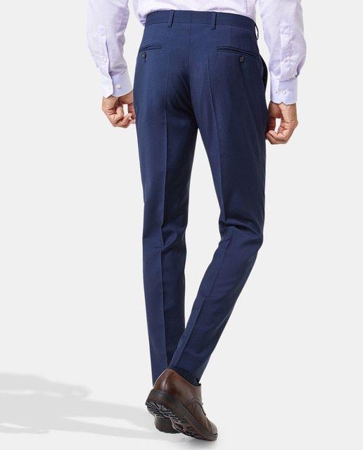 Pierre Cardin Pantalon De Traje De Hombre Pierre Cardin Slim Azul En 2020 Pantalones De Traje Trajes Pantalones