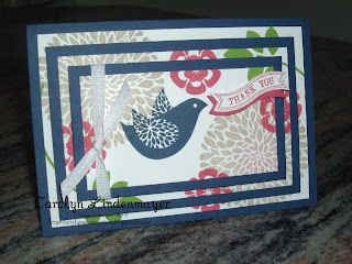 Betsy's Blossoms Triple layer stamping - Carolyn's Card Creations