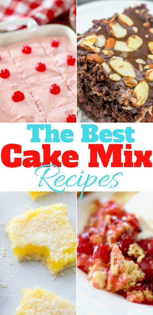 40 Best Cake Mix Recipes With Images Cake Mix Recipes Bbq