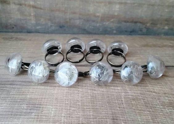 Captured Wishes adjustable half dome ring by aryacreates on Etsy