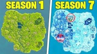 Evolution Of The Entire Fortnite Map Season 1 To Season 5 Update Fortnite Epic Fortnite Season 1 Season 7