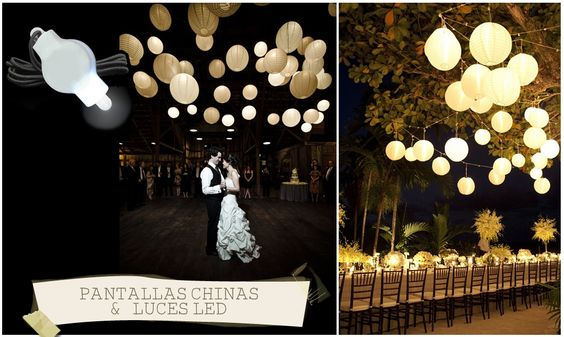 China led and fiestas on pinterest - Decoracion con luces ...