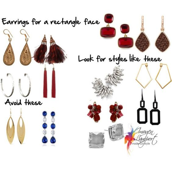 How to choose earrings for a rectangle face shape