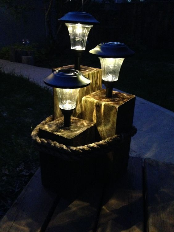 Contemporary Yard Lights Could Add Arresting Center Pieces To Yard Highlight Or Landscaping Your Bea Solar Lights Garden Diy Outdoor Lighting Backyard Lighting
