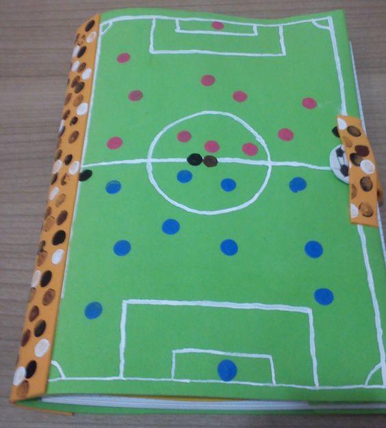 Funda libro decorado campo de futbol cosas hechas por mi - Fundas nordicas de futbol ...