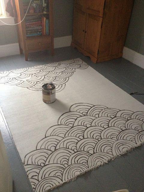 Brazen Bernadette Diy Painted Rug Sera S Room Continued Painted Rug Diy Rug Diy Carpet