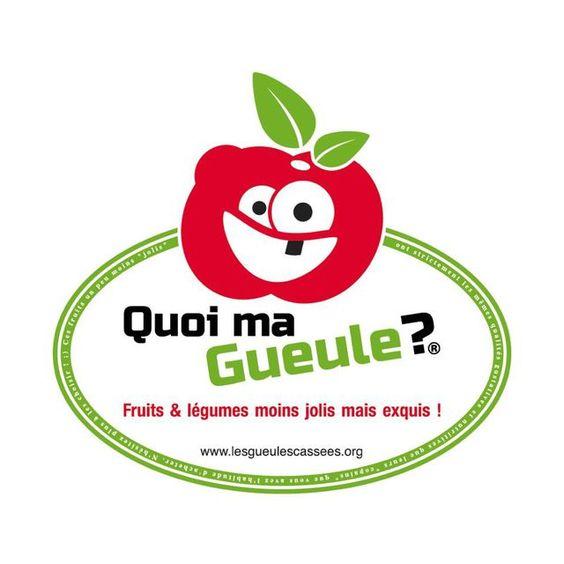 Le logo du label Quoi ma gueule?, qui vis à promouvoir les fruits et légumes…