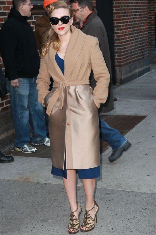 Scarlett Johansson Abrigo batín