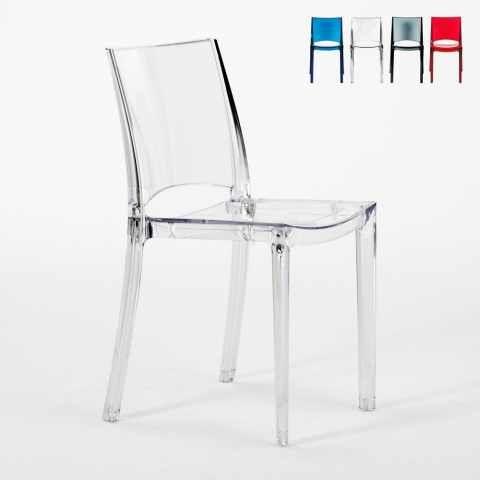 Sedia Impilabile Trasparente Per Cucina Bar B Side Grand Soleil Transparent Chair Chair Design Chair