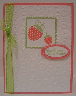 cute simple embossed card