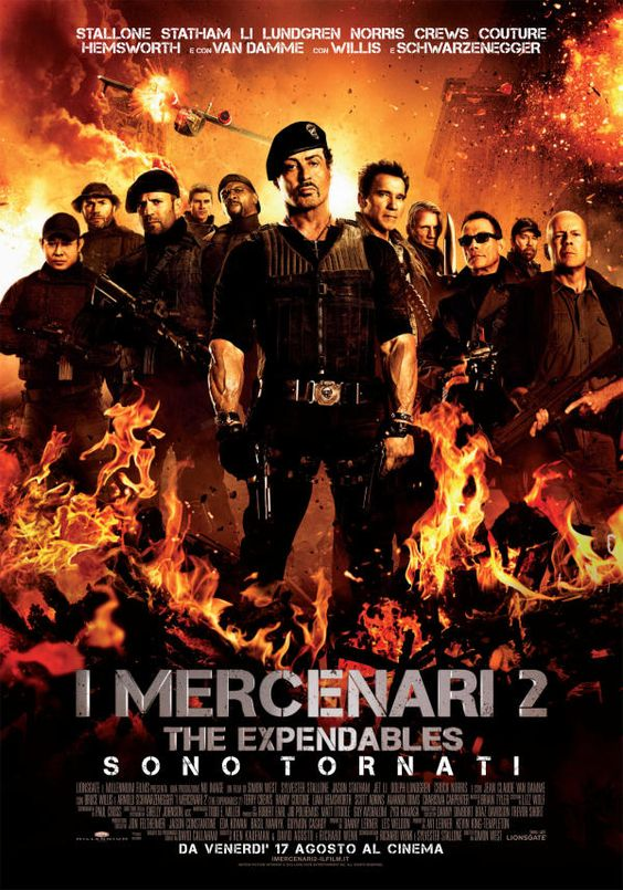 I Mercenari 2, dal 17 agosto al cinema.