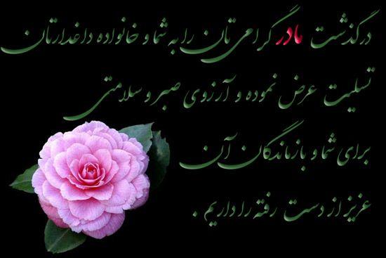 عکس نوشته پیام تسلیت مادر Flowers Rose Plants