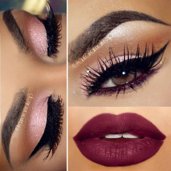 "♥AURORA ♥ on Instagram: ""Here are some close ups loves ! Aqui algunos acercamientos del look en publicado unos días antes Deets : #GEMSPARKLES in MORGANITE by @motivescosmetics on mobile eyelid -Lashes SASHA by @shophudabeauty -Liquid Matte Lipstick in MOOD by @doseofcolors - Gel eyeliner LBD by @motivescosmetics - Brow Definer in EBONY by @anastasiabeverlyhills -Eyeshadow TEMPERATURE RISING by @motivescosmetics on the crease #auroramakeup #selfie"""