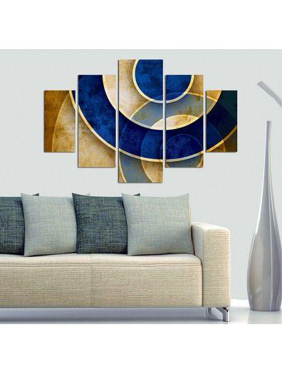 Venta privada cuadro de 5 piezas moderno deco wall tripticos triptych pinterest pinturas - Cuadros abstractos minimalistas ...