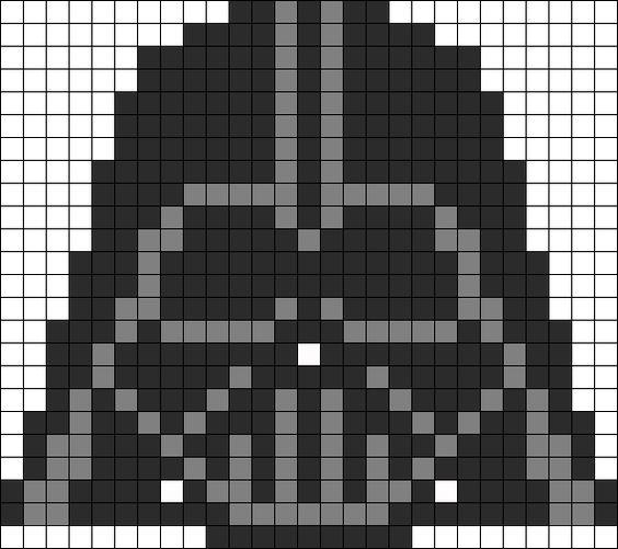 Star Wars Darth Vader Helmet Perler Bead Pattern | Bead Sprites | Characters Fuse Bead Patterns