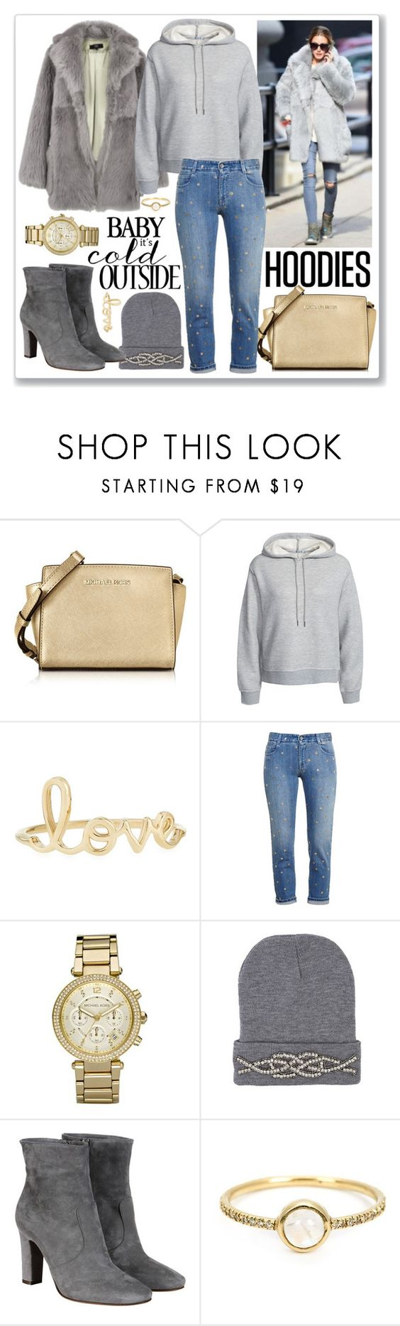 """""""Winter Layering: Hot Hoodies"""" by gogotasha ❤ liked on Polyvore featuring Michael Kors, TIBI, T By Alexander Wang, Sydney Evan, STELLA McCARTNEY, L'Autre Chose, Irene Neuwirth, women's clothing, women's fashion and women"""
