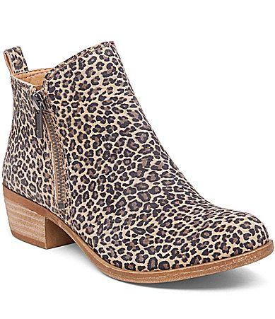 Lucky Brand Basel Leopard Booties #Dillards