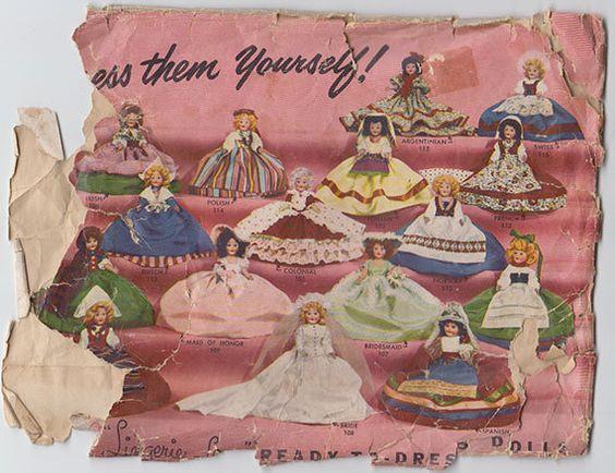 Lingerie Lou Doll Patterns 1952 by PamelasPlumes on Etsy