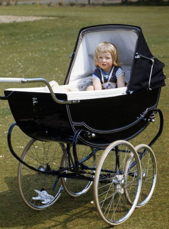 1963 Lady Diana Spencer in her pram at Park House, Sandringham, Norfolk