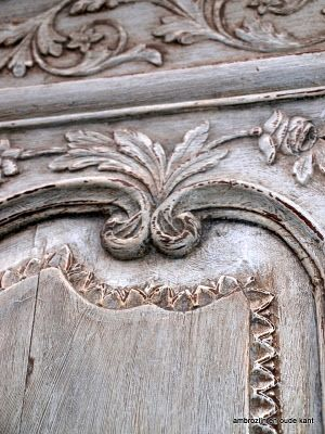 grey patina wardrobe or armoire