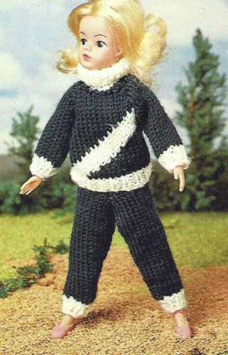Knitting Patterns For 13 Inch Dolls : JOGGING SUIT SINDY TYPE DOLL 11 & 13 INCH KNITTING PATTERN ...