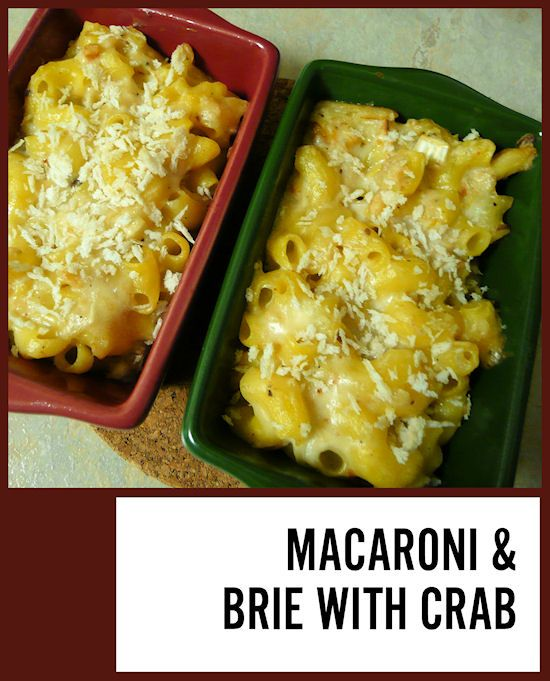 Macaroni and Brie with Crab | Recipe | Pasta, Quinoa and Recipe Pasta