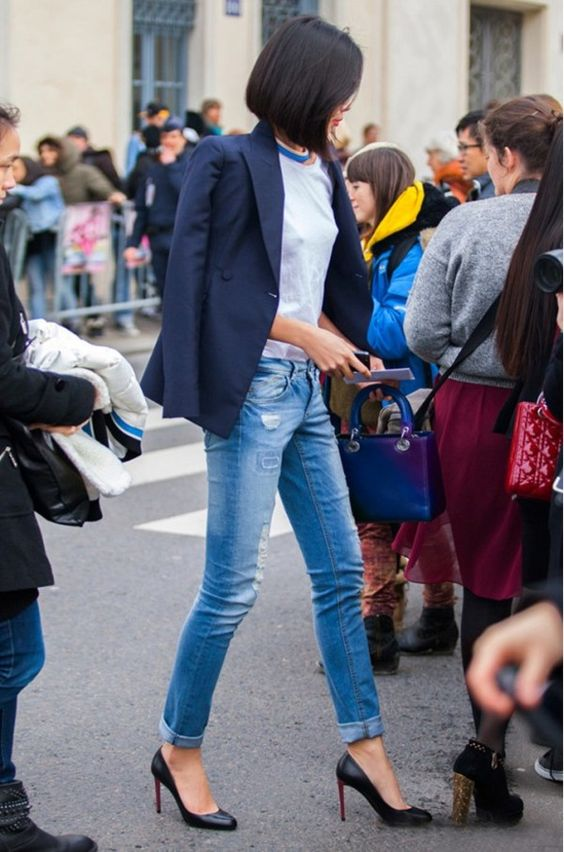 ジャケット×デニム ネイビー Tシャツ Dior Christian Louboutin