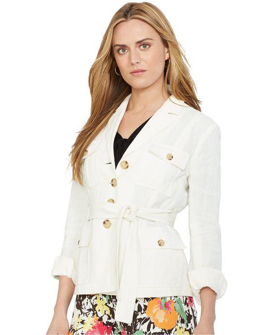 Lauren Ralph Lauren Linen Safari Jacket - Jackets & Blazers - Women - Macy's