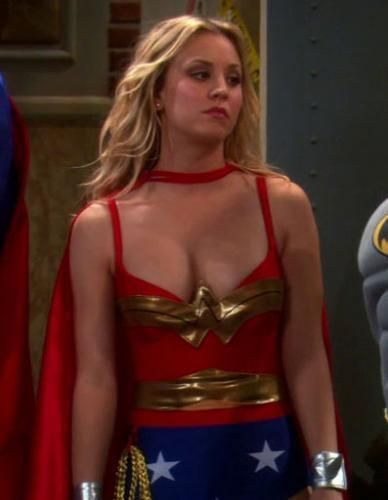 """Sheldon: In what universe is Wonder Woman blonde?"""
