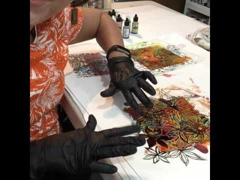 Stencils and Alcohol Ink - YouTube