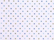STENZO Baumwolle Pünktchen Punkte weiß hellblau
