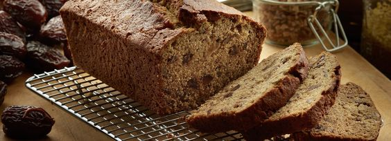 A fresh, steaming loaf of this Natural Delights Medjool Date Bread won't be on the counter for long.