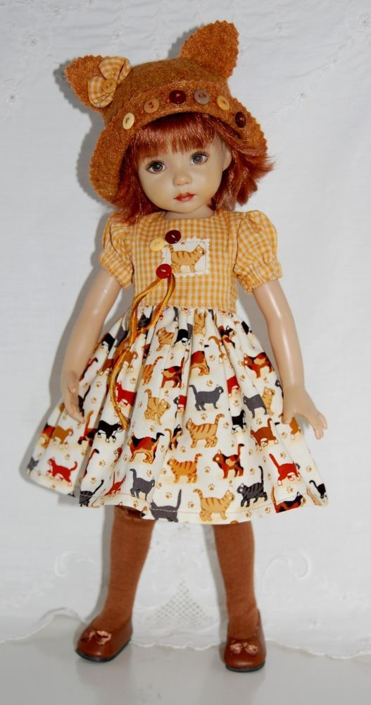 """~*~The Cat's Meow~fits 13"""" Effner Little Darling~*~3PC OOAK~*~:"""