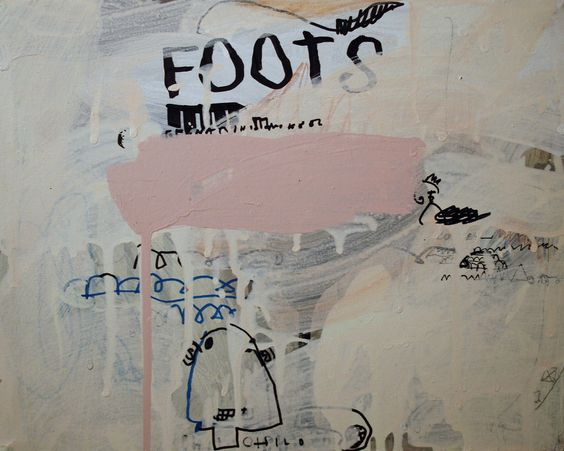 https://flic.kr/p/8Tj7QA | foots | mixed media on canvas.  WWW.notamax.it