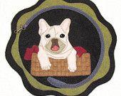20% OFF PATTERN - Brutus's Basket - Wool AppliqueTable Mat
