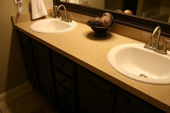 Thrifty Inspirations: Rust-Oleum Countertop & Cabinet Transformations also did kitchen