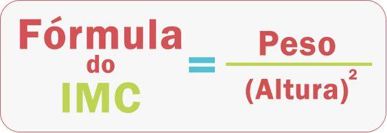 Fórmula do calculo do índice de massa corporal