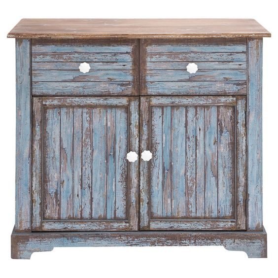 Wooden Den Cabinets ~ Bring a rustic touch to your den or entryway with this