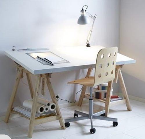 Ikea Linnmon Finnvard Table White Birch Good Furniture