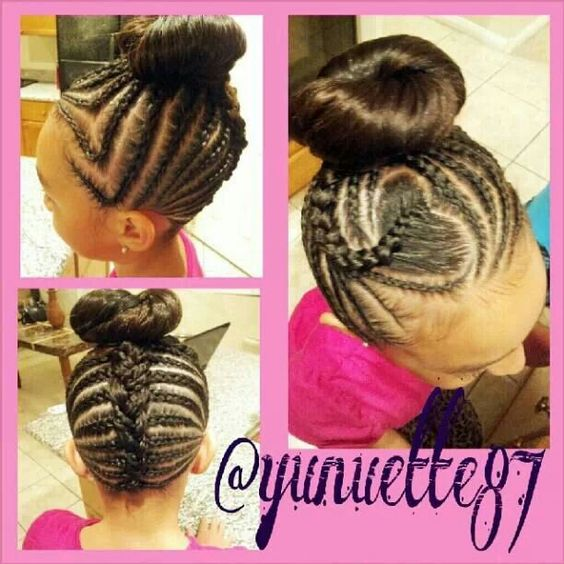 Fine Braids Into Bun Braids And Twist Hairstyles Pinterest Hairstyles For Women Draintrainus