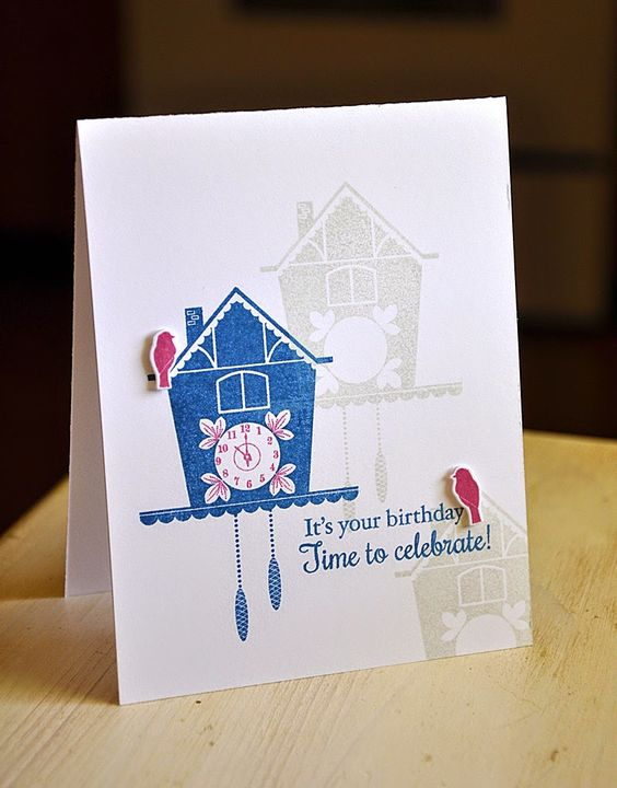 It's Your Birthday Card by Maile Belles for Papertrey Ink (August 2014)