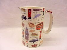 London Scenes one pint pitcher jug by Heron Cross Pottery