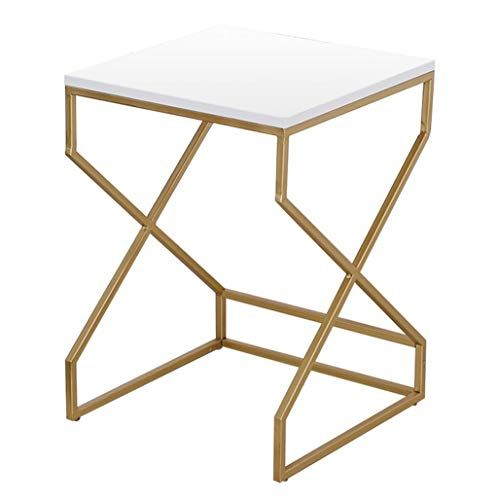 Simple Coffee Table Wrought Iron Side Table Piano Paint Tabletop