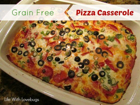Pizza casserole, Grain free and Grains on Pinterest