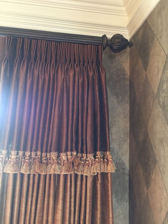 More detail on custom Tuscan curtains.