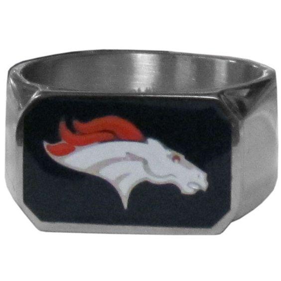 Denver Broncos Steel Ring