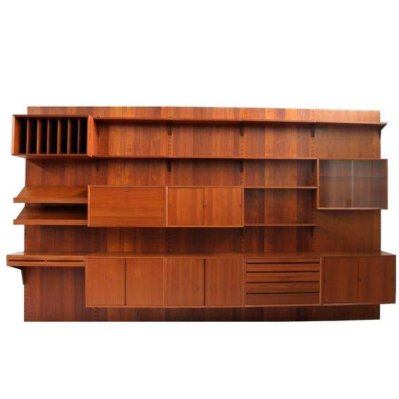 modern beautiful 1960s danish poul cadovius royal teak wall unit by cado mid century cado modern furniture 101 multi function modern