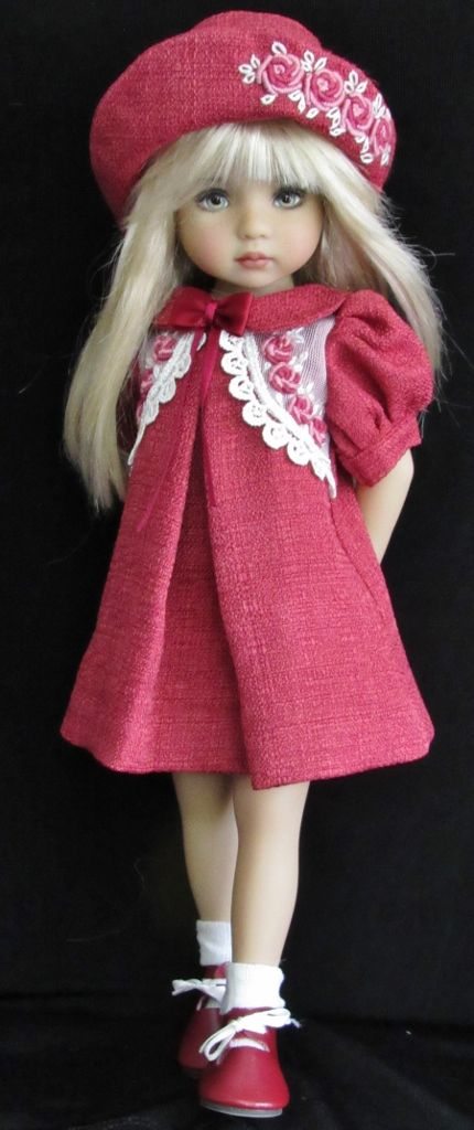 "vintage style dress set made for effner little darling 13"" dolls:"