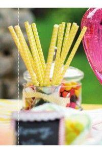 24 Pailles bicolore Chevrons - Candy Bar - 6 coloris - Déco  Mariage Cérémonie Anniversaire Nouvel An Noel Baptême